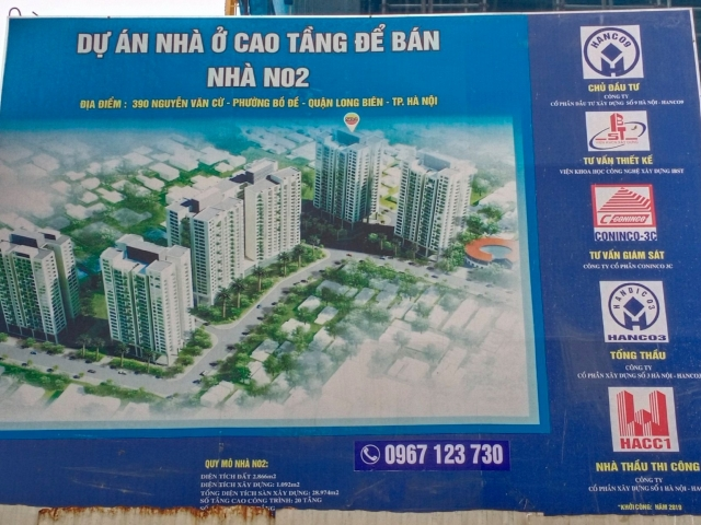 Nhà ở cao tầng để bán tòa N02, N04, N05- Bồ Đề, Long Biên, Hà Nội