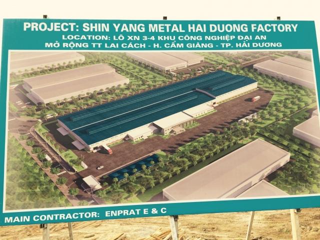 Nhà máy Shin Yang - Metal - Hải Dương ( Mở rộng)
